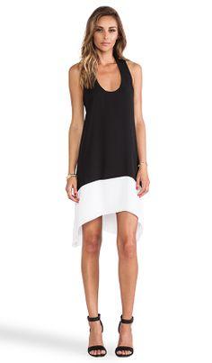 BCBGMAXAZRIA Kylie Color Block Dress in Black Combo