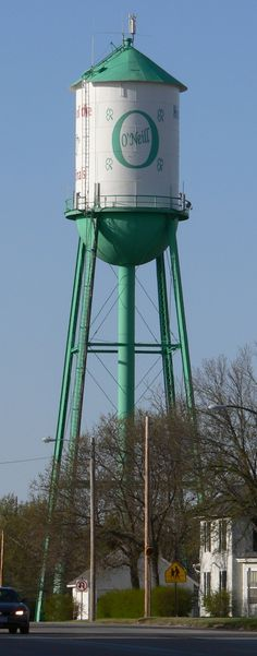 Water Tower in the middle of town