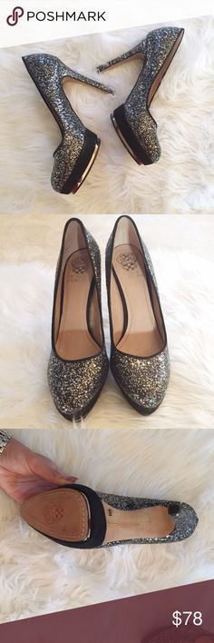 SATURDAY SALE! Vince Camuto Sparkle Heel Gorgeous Vince Camuto sparkly heel in gently used condition. SOLD OUT EVERYWHERE. So cute for a night out. No trades. Bundle & save 5%! 12hjyne3fjn Vince Camuto Shoes Heels