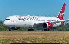 Virgin Atlantic Boeing Dreamliner (registered G-VWHO) Boeing 787 9 Dreamliner, Virgin Atlantic, Aviation, Aircraft, Transportation, Planes, Airplane, Airplanes, Plane