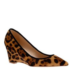 #Jcrew #myshoestory Collection Everly calf hair wedges - size 5 - Women's sizes 5 and 12 shoes - J.Crew