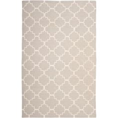 Living Room: Dhurries Grey/Ivory 5 ft. x 8 ft. Area Rug