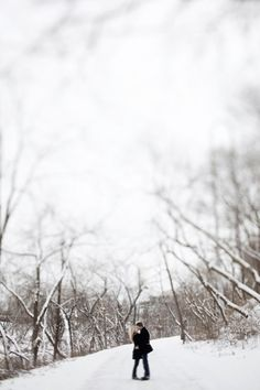 winter love - engagement photo shoot idea - Since I love the black and white bare tree pictures so much. Winter Engagement Photos, Engagement Couple, Engagement Pictures, Wedding Engagement, Engagement Session, Engagements, Winter Photography, Couple Photography, Engagement Photography