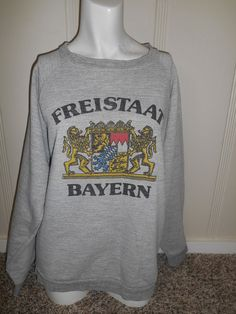 Freistaat Bayern Germany  Vintage 80s 90s  by ATELIERVINTAGESHOP