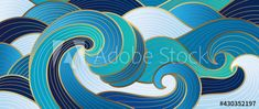 Navy blue Gold abstract wave line arts background vector. Luxury wall paper design for prints, wall arts and home decoration, cover and packaging design. Stock Vector | Adobe Stock Resources Icon, Waves Line, Blue Gold, Navy Blue, Abstract Waves, Art Background, Designer Wallpaper, Line Art, Packaging Design