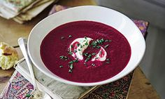 My Mum started making beetroot soup for dinner parties in the and back then I thought the vivid pink concoction was the epitome of chic. Beetroot Soup, Rachel Allen, Dinner Parties, Soup Recipes, 1980s, Soups, Chic, Party, Pink