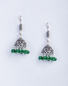 Metal Amna EM 2617 Emerald Jhumka Earrings
