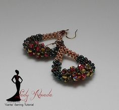 Beaded Earring Tutorial CRAW Karita Pdf Format INSTANT DOWNLOAD OVERVIEW Karita is a quick and easy CRAW oval/hoop shaped earring that is embellished with crystals and explores the possibilities of CRAW with different size beads. This in an original design by Lady Abeada