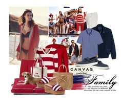 """""""Paint your Canvas with Land's End: Family is everything to me"""" by captainsilly ❤ liked on Polyvore featuring Lands' End, Tommy Hilfiger, Canvas by Lands' End and ViX"""