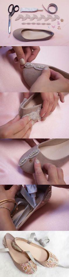 DIY com sapatos.