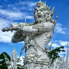 white temple guards - Google Search White Temple, Lion Sculpture, Statue, Google Search, Art, Art Background, Kunst, Performing Arts, Sculptures