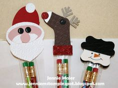 SUO-Punch Art Pencil Toppers by CraftyJennie - Cards and Paper Crafts at Splitcoaststampers
