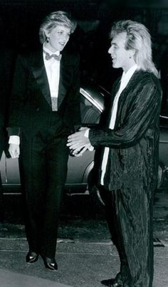 Princess Diana et Peter Stringfellow , the Hippodrome Nightclub  , le 17  Mars 1987