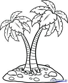 Coconut Tree Coloring Page Coconut Palm Tree Coloring Page Pages Tree Coloring Page, Truck Coloring Pages, Animal Coloring Pages, Colouring Pages, Printable Coloring Pages, Coloring Pages For Kids, Palm Tree Sunset, Palm Trees, Art Drawings For Kids