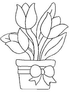 Pintura em Tecido, Como fazer, Passo a passo, Riscos e muitas dicas.: Riscos Para Pintura em Tecido Flores