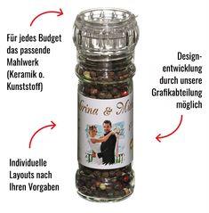 Privat Label Einzelstück - www.meinegewuerzmuehle.de Budget, Design, Birthday, Gifts, Budgeting