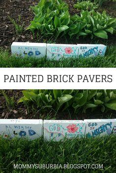 Rock Your Garden with Custom Painted Brick Pavers - DIY Garden Painted Bricks Crafts, Brick Crafts, Painted Pavers, Painted Rocks, Indoor Vegetable Gardening, Indoor Garden, Garden Art, Garden Design, Organic Gardening