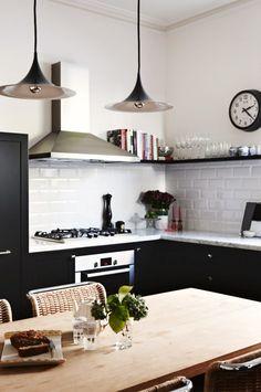 Cookbooks above kitc