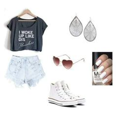 How to wear converse high tops ray bans 28 Ideas Summer School Outfits, Casual Summer Outfits, College Outfits, Outfits For Teens, Cruise Outfits, Pretty Outfits, Cool Outfits, Fashion Outfits, Outfits With Converse