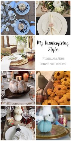 Hello fiends! I've joined up with 6 blogger friends to bring you all Thanksgiving tablescape ideas with a fall recipe!     It's  my abs...
