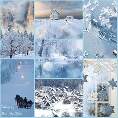 Making a collage of your winter days: Collage by Miss Lily Bliss Winter Love, Winter Colors, Winter White, Winter Christmas, Christmas Time, Decoration Christmas, Color Collage, Mood Colors, Beautiful Collage