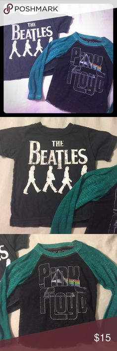 BEATLES and Pink Floyd 12 mos unisex baby 👶🏼 top Good cond some wear love love love size 12 mos super soft rocker Shirts & Tops Tees - Long Sleeve