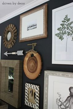 Driven by Decor - Home office gallery wall