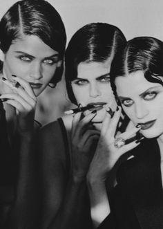 "Vogue Paris April 1991""Nuits d'orient""Models: Helena Christensen, Petra Lindblad  Kristen McMenamyPhotographer: Peter Lindbergh"