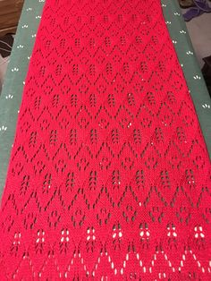 Red Hot Knitted lace!