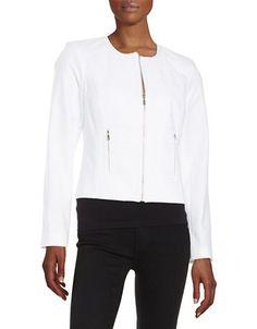 Calvin Klein Embroidered Panel Jacket Women's White 2