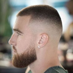Men's Buzz Cut Hairstyle - Best Buzz Cut Hairstyles For Men: Cool Buzz Cut Haircuts, Modern Buzz Cut Taper Fade Styles Buzz Cut For Men, Buzz Cut With Beard, Buzz Cuts, Beard Cut Style, Men's Cuts, Types Of Fade Haircut, Taper Fade Haircut, Taper Fade Short Hair, Mens Short Fade Haircut