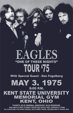 THE EAGLES.second highest earning touring band of The Eagles Concert Poster /FromTheWaybackMachine Rock And Roll, Pop Rock, Rock Posters, Band Posters, Event Posters, Eagles Band, The Eagles, Eagles Music, Festival Posters