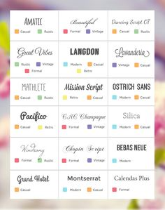 How to choose fonts for your wedding invitations according to your wedding style.