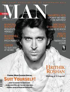Hrithik Roshan en couverture des magazines GQ et The Man pour novembre 2013 - Les news de Bollywood