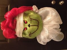 Grinch Wreath - deco mesh