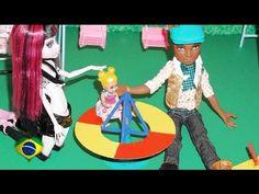 Como fazer parquinho (gira-gira) para boneca Monster High, Barbie, EAH, etc - YouTube