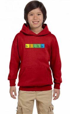 bazinga periodic table funny Youth Hoodie