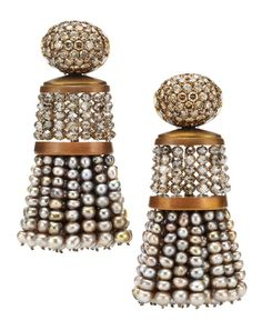Hemmerle. A Pair of Natural Pearl and Diamond Tassel Ear Pendants, by Hemmerle. Available Exclusively at   FD Gallery. www.fd-inspired.com