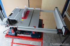 Extension de table de la scie sur table Bosch GTS 10 XC : http://www.travaillerlebois.com/scie-sur-table-bosch-gts-10-xc-1ere-partie-montage/