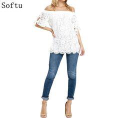 Off Shoulder Lace Crochet Top