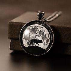 Wolf necklace #wolf #jewelry #darkfashion