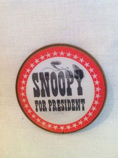 Vintage Snoopy for President pin button Peanuts by Comforte, $11.00