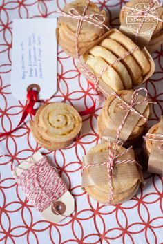 Love the wrapping on these ... Citrus short pastry cookies