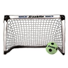 Play soccer no matter what time of day or night it is with the Franklin Sports Light Up Goal and Ball Set. Just set up the glow-in-the-dark goal and kick your glow-in-the-dark ball through it for victory.