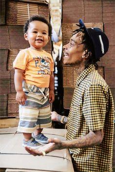 Wiz Khalifa and son Sebastian