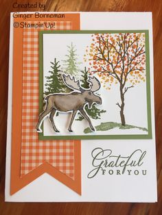 merry moose stampin up cards 2019 ~ merry moose stampin up cards Fall Cards, Winter Cards, Holiday Cards, Card Making Inspiration, Making Ideas, Stamped Christmas Cards, Christmas Moose, Fun Fold Cards, Stamping Up Cards
