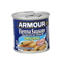 Armour Vienna Sausage I use to make Dad  sandwiches with these!