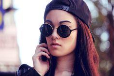 Alessandra Kamaile: Vintage Steampunk Classic Round Sunglasses Metal Bridge 8407