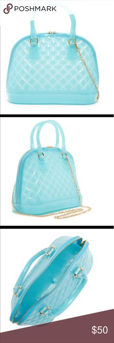 Pre-order. Coming soon! Blue Jelly Bag! Playful and practical. Blue jelly bag by Pink Haley. Great trendy fun to add to any wardrobe. Preorder. They are coming in soon. Pink Haley Bags Totes