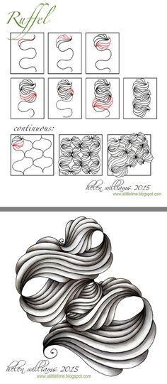 Ruffle #doodle #zentangle                                                                                                                                                      More